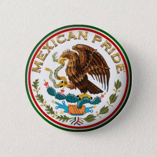 Mexican Pride (Eagle from Mexican Flag) Pinback Button