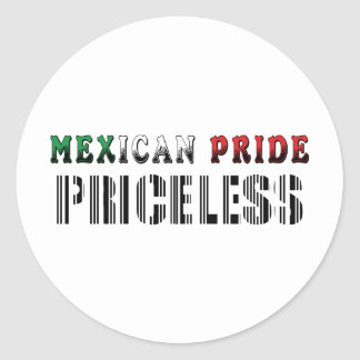 Mexican Pride Priceless Round Stickers