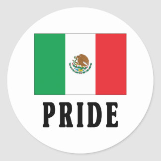Mexican Pride Round Stickers