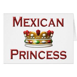 Mexican Princess Card