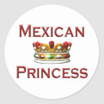 Mexican Princess Classic Round Sticker