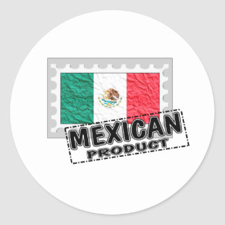 Mexican product classic round sticker