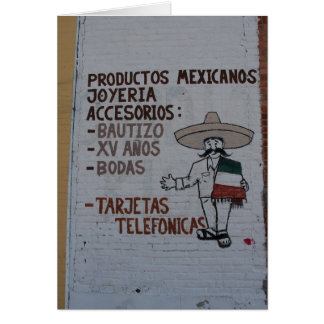Mexican Products Sign in Washington, Iowa Card