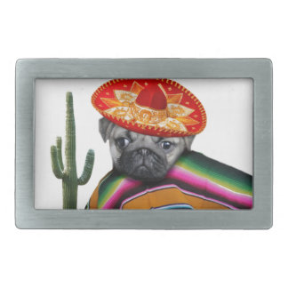 Mexican Pug dog Belt Buckle