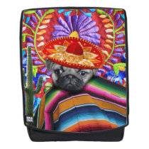 Mexican pug dog boldface backpack