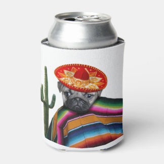 Mexican pug dog can cooler