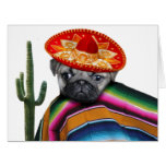 Mexican pug dog large greeting card
