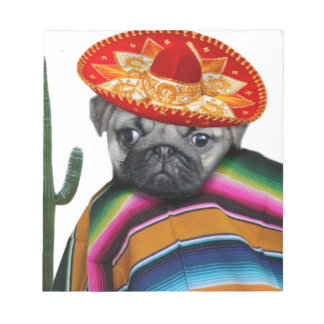 Mexican pug dog notepad