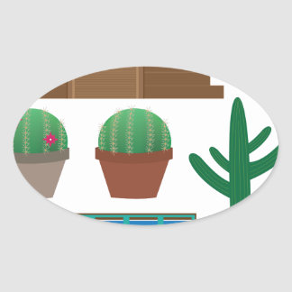 mexican pyramid oval sticker