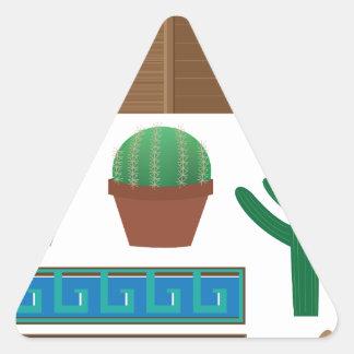 mexican pyramid triangle sticker