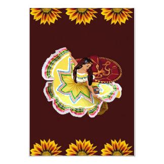 Mexican Quinceanera Invitation - Burgundy