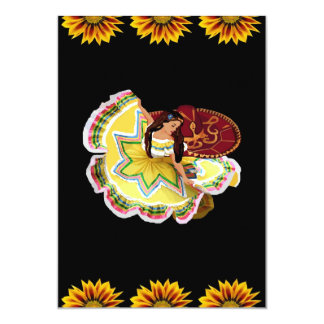 Mexican Quinceanera Themed Invitations