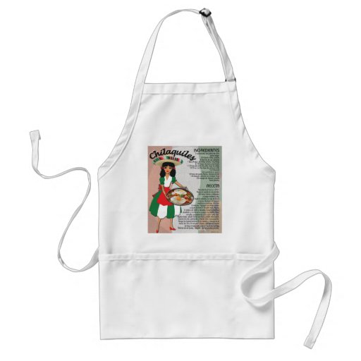 Mexican Recipe Aprons - Chilaquiles - Spanish