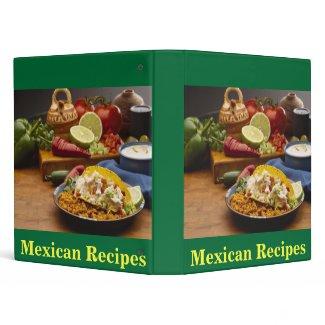 Mexican Recipes binder