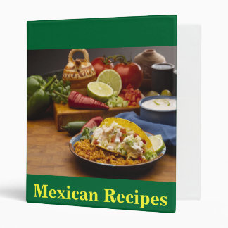 Mexican Recipes Binders