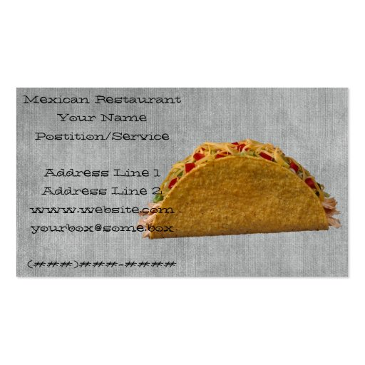 Mexican Restaurant Business Card Template