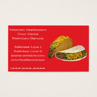 Mexican Restaurant Business Card