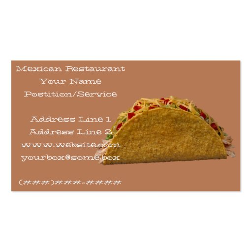 Mexican Restaurant Business Cards