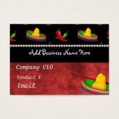 Mexican Restaurant Business Card at Zazzle
