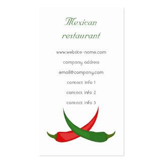Mexican Restaurant Business Card