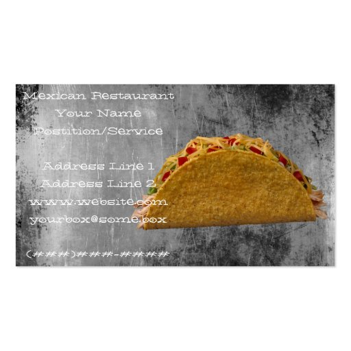 Mexican Restaurant Business Card Templates