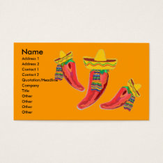 Mexican Restaurant Business Profile Card at Zazzle