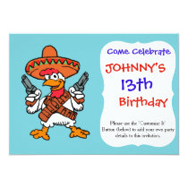 Mexican rooster invitation