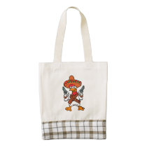 Mexican rooster zazzle HEART tote bag