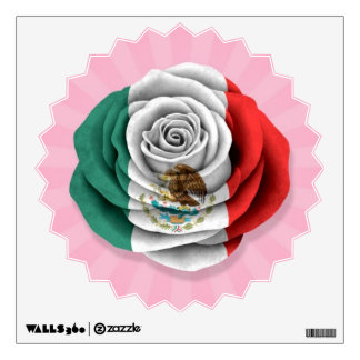 Mexican Rose Flag on Pink Wall Skin