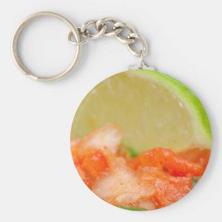 Mexican Salsa Basic Round Button Keychain