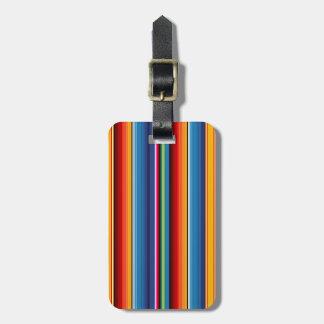 Mexican Sarape Bag Tag