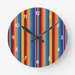 Mexican Sarape Round Wall Clock