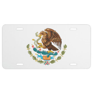 MEXICAN SEAL LICENSE PLATE