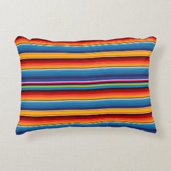 Mexican Serape Accent Pillow by HolidayBug at Zazzle