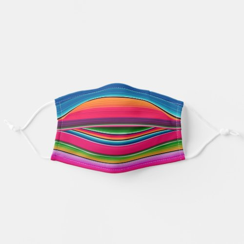 Mexican Serape Blanket Colorful Stripes Cloth Face Mask