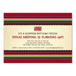 Mexican Serape Party - Horizontal 5.5x7.5 Paper Invitation Card