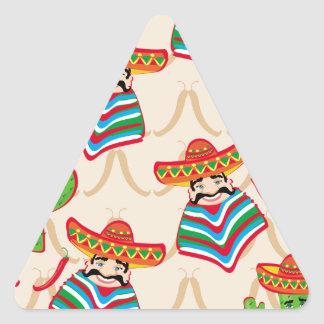 Mexican siesta triangle sticker