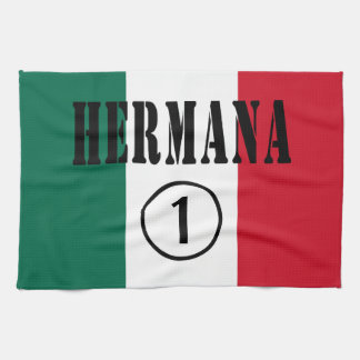 Mexican Sisters : Hermana Numero Uno Hand Towels