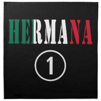 Mexican Sisters : Hermana Numero Uno Printed Napkins