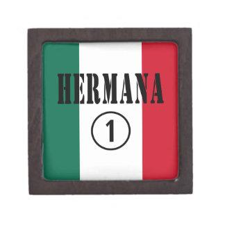 Mexican Sisters : Hermana Numero Uno Premium Keepsake Boxes