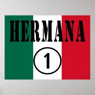 Mexican Sisters : Hermana Numero Uno Print