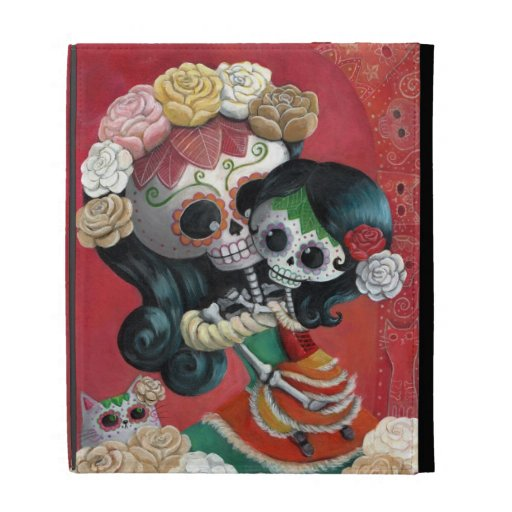 Mexican Skeleton Mother and Daughter iPad Folio Case