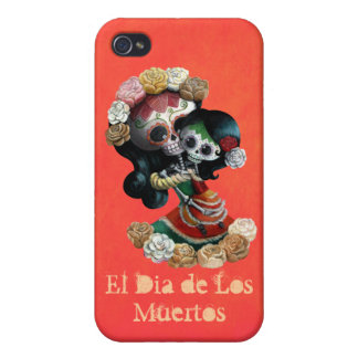 Mexican Skeleton Motherly Love iPhone 4 Case