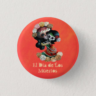 Mexican Skeleton Motherly Love Pinback Button
