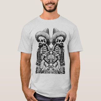 Mexican Skeleton with stache shirt