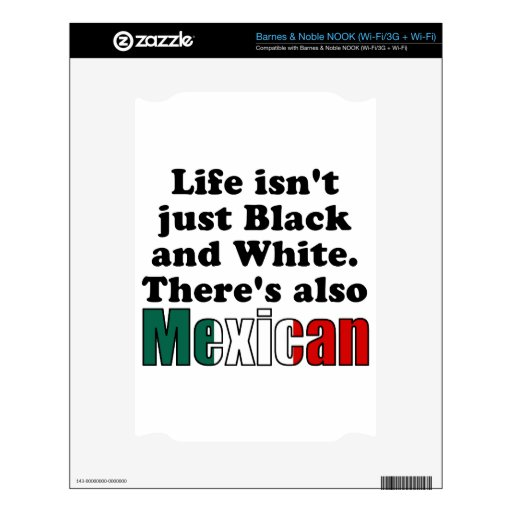 Mexican NOOK Decal