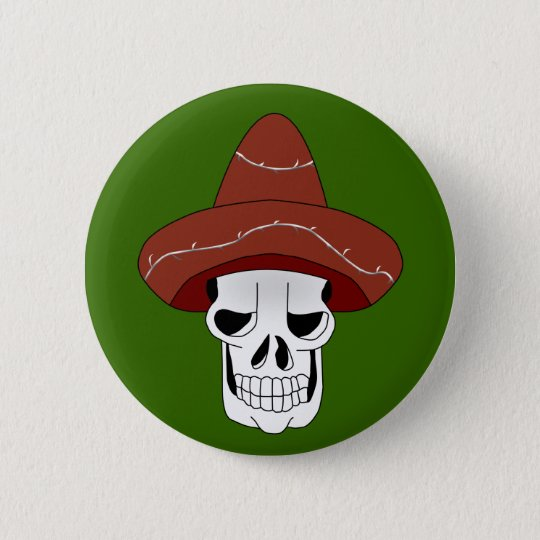 Mexican Skull Button