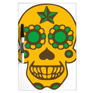 mexican skull dry erase whiteboard