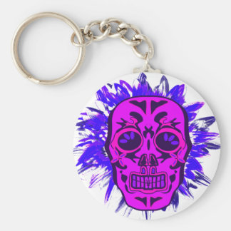 Mexican Skull Keychain