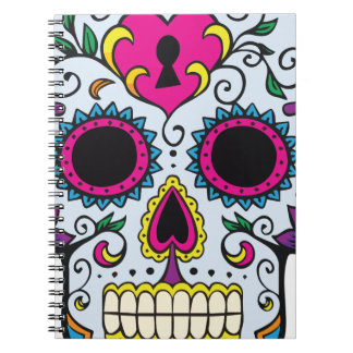 Mexican Skull Pattern Notebook